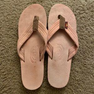 Rainbow sandals women's size 8 baby pink